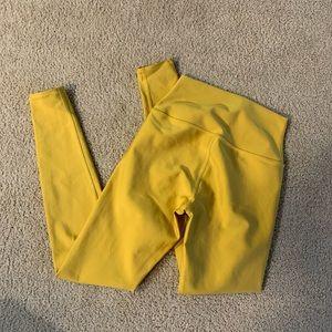 Alo yoga legging airbrush yellow sunburst small
